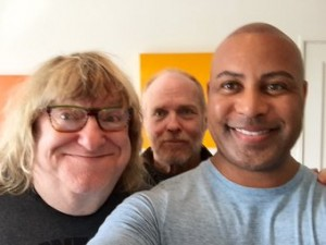 (left to right) Bruce Vilance, Tracy Gamble, and Hilliard Guess